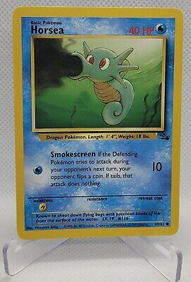 49/62 Horsea - Fossil - Common Pokemon TCG Card LP