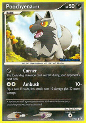 1x Poochyena - 116/146 - Common Legends Awakened Pokemon Near Mint