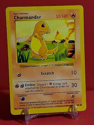 Pokemon Charmander SHADOWLESS base Set 46/102