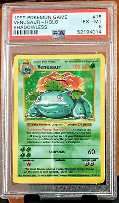Pokemon Base Set Shadowless Venusaur 15/102 PSA 6