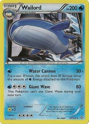Wailord - 26/124 - Holo Rare NM Dragons Exalted Pokemon JG2