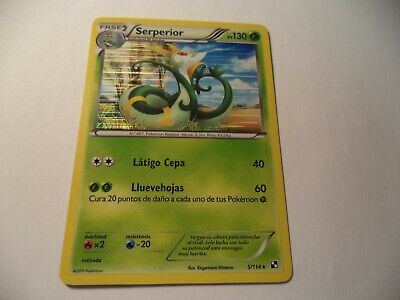 (1d65) Pokemon Card 5/114 Serperior Black And White Holo  In Good Condition