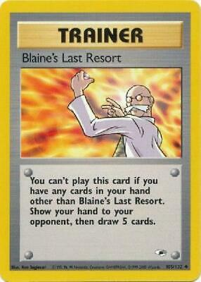 Blaine's Last Resort- 105/132 - Uncommon NM Gym Heroes Pokemon 2B3