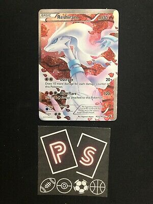 Legendary Treasures Reshiram RC22/RC25 Ultra Rare Full Art Holo Pokemon Card LP