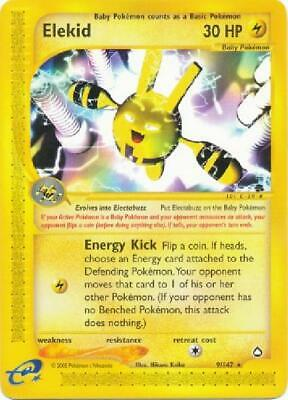 Elekid -  9/147  - Rare NM Aquapolis Pokemon
