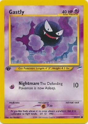 Gastly - 65/105 - Common 1st Edition Near Mint Neo Destiny Pokemon 3Q6
