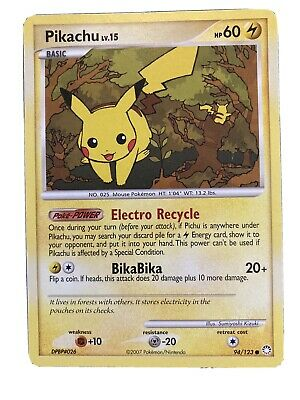 Pikachu - 94/123 Mysterious Treasures Starter Pokemon - Near Mint