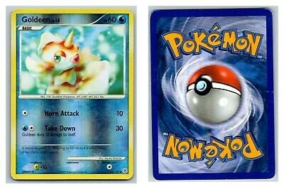Goldeen 84/130 REVERSE HOLO Diamond & Pearl Pokemon Card *sm crease*