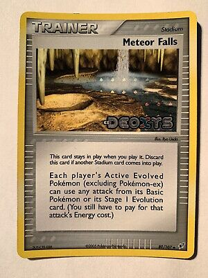 Pokemon - Meteor Falls 89/107 Uncommon Reverse Holo Stamped - EX Deoxys