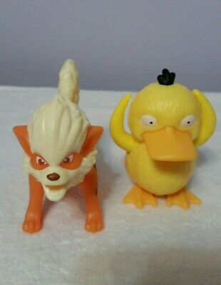 Pokemon Detective Pikachu Movie Arcanine and PSYDUCK  Burger King Kid Meal Toys