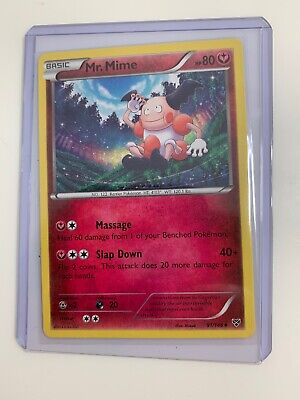 Pokemon XY Mr. Mime 91/146  Card- CARD PROTECTED WITH SLEEVE AND TOP LOADER