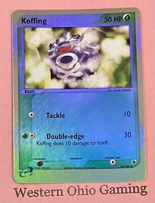 Pokemon Koffing #54 Reverse Holo Foil USED READ EX Ruby & Sapphire Single
