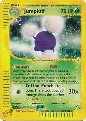 1 x MP Jumpluff - H13/32 - Holo Rare Aquapolis Pokemon TCG