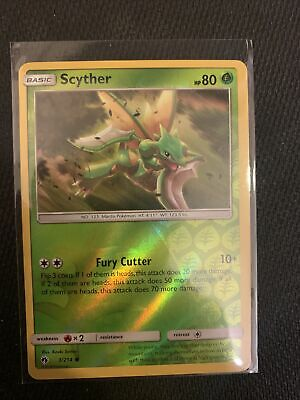 Pokemon SCYTHER 3/214 UNCOMMON REVERSE HOLOFOIL NM CARD  LOST THUNDER