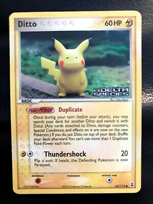 Ditto 63/113  (Pikachu) EX Delta Species Stamp Reverse Holo Pokemon Card