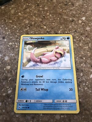 Pokemon Unbroken Bonds Slowpoke Common Card 42/214 NM