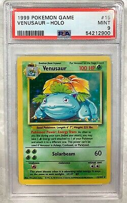 1999 Pokemon Venusaur Base Set Holo PSA 9 MINT 15/102