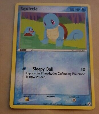 Pokemon Tcg Card - Ex Firered And Leafgreen - Squirtle 82/112 Nm