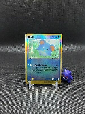 Pokemon - Marill 68/100 Reverse Holo Ex Sandstorm Light Play See Pics