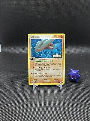 Pokemon - Kabutops 7/92 Reverse Holo Ex Legend Maker Played Creased See Pics