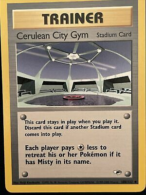 Cerulean City Gym - 108/132 - Gym Heroes - Uncommon Pokemon Card - NM / M