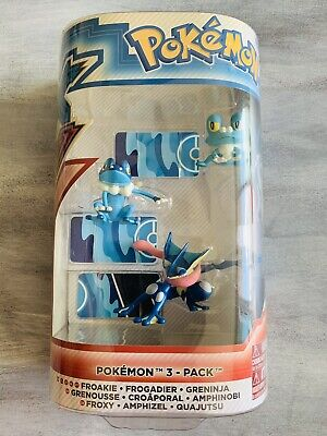 2014 Tomy Pokemon XY Figure Evolution 3-Pack Froakie, Frogadier & Greninja - NEW