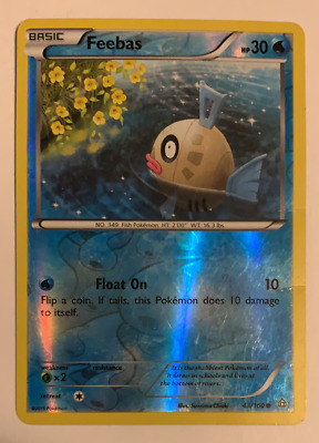 Feebas - Reverse Holo - Pokemon Card - 43/160 - XY Primal Clash Set - 2015