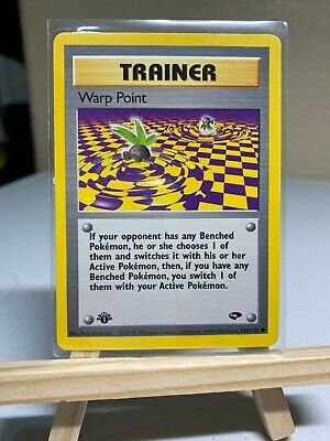 1st EDITION TRAINER POKEMON CARD WARP POINT #126/132 Gym Challenge