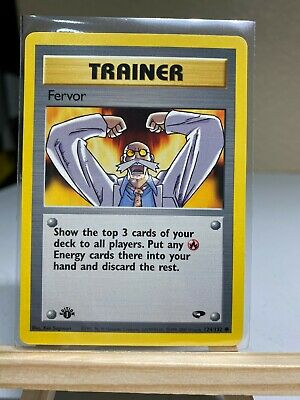1st Edition TRAINER POKEMON CARD FERVOR  #124/132 Gym Challenge