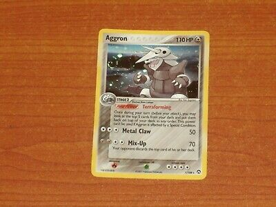 Pokemon Gaming Card:  AGGRON #1/118 120HP Rare Holofoil WOTC 2007 Power Keepers