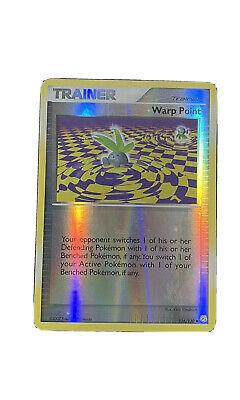 Pokemon Diamond And Pearl Trainer Warp Point #116/130 Reverse Holo Mint/NM
