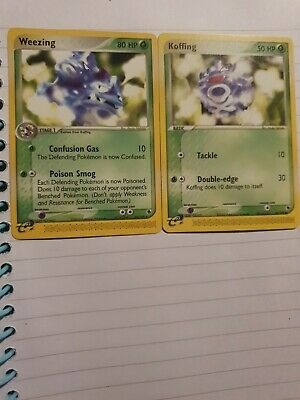 Pokemon card Weezing 24/109 & Koffing 54/109 Ex Ruby & Sapphire near mint!