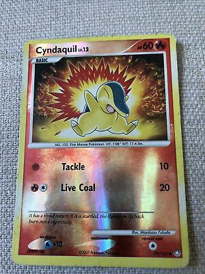 Cyndaquil Pokemon Card Reverse Holo 79/123 Mysterious Treasures
