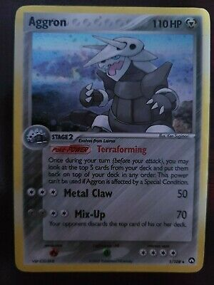 Aggron 1/108 EX Power Keepers Rare Parallel Holo Pokemon Card