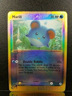 Marill 68/100 EX Sandstorm Reverse Holo Pokemon Card LP See Detailed Pictures
