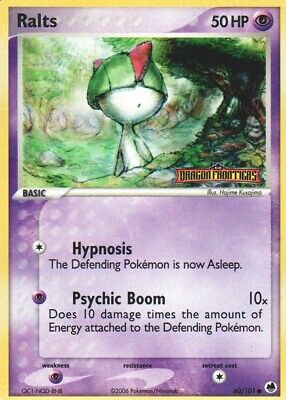1x Ralts - 60/101 - Common - Reverse Holo EX Dragon Frontiers Pokemon Played