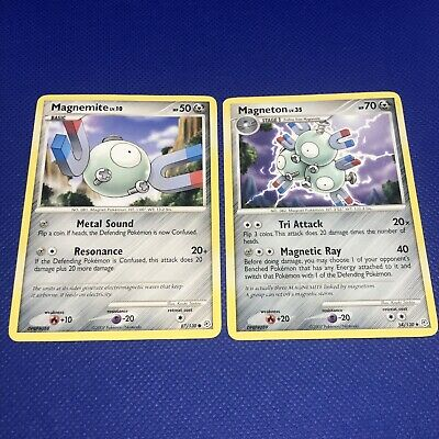 Pokemon Magnemite & Magneton Diamond And Pearl, Lightly Played