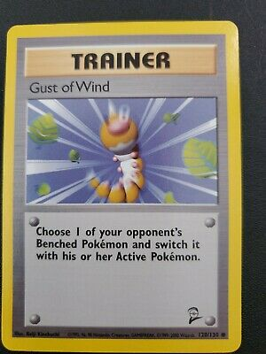 Pokemon GUST OF WIND - 120/130 - Base Set 2 - Trainer Card -  NM lots of 2