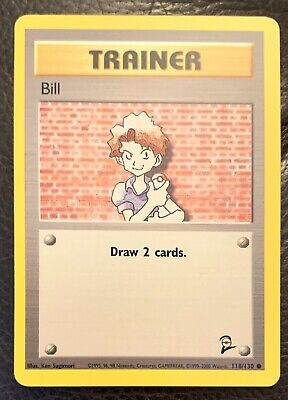 Pokemon Card - Bill - 118/130 - Base Set 2 - NM - Common