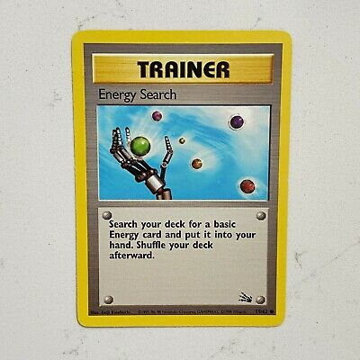 Energy Search - 59/62 Fossil Set - Common Pokemon Card - Vintage WotC -  NM/MINT