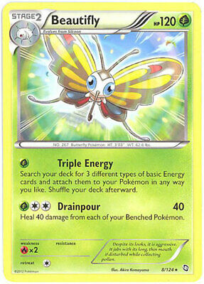 Pokemon Card - Dragons Exalted 8/124 - BEAUTIFLY (rare) - NM/Mint