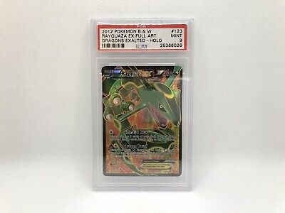 Pokemon Rayquaza EX Full Art #123 2012 Black & White Dragons Exalted PSA 9 MINT