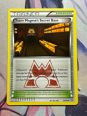 Pokemon TCG Team Magma's Secret Base 32/34 Uncommon XY Double Crisis NM Cond