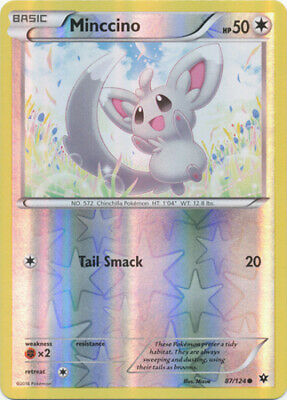1x Minccino - 87/124 - Common - Reverse Holo XY Fates Collide Pokemon Near Mint