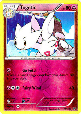 1x Togetic - 44/108 - Uncommon - Reverse Holo Roaring Skies Pokemon Near Mint