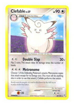 1x Clefable - 22/130 - Rare Diamond & Pearl Pokemon Near Mint