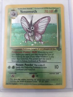 Venomoth 13/64 LP Jungle Set 1999 Holofoil Rare Holo Pokemon Card