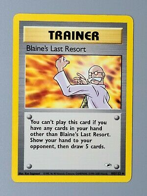 Blaine's Last Resort 105/132 Gym Heroes Pokemon
