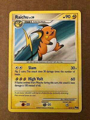 Pokemon Raichu 3/17 POP Series 9 NM-Mint See Pictures