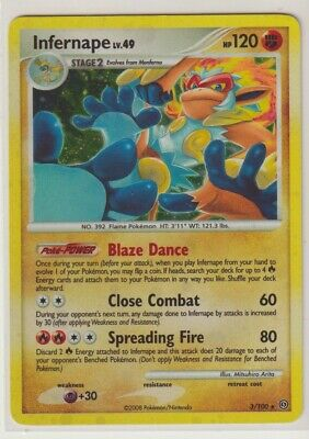 INFERNAPE LV. 49 3/100 Holo Rare Diamond & Pearl Stormfront Pokemon Card